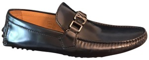 Louis Vuitton Loafers Moccasin Leather Driver Men Marine (Dark Blue) Formal