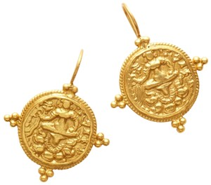 Julie Vos Gold Coin Statement Earring