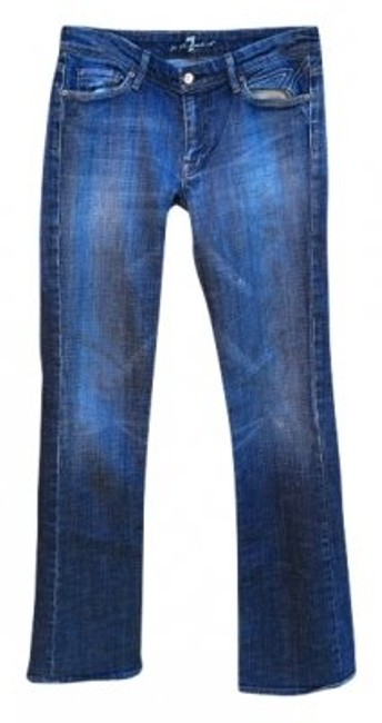 Preload https://item2.tradesy.com/images/7-for-all-mankind-dark-wash-rinse-boot-cut-jeans-size-31-6-m-22586-0-0.jpg?width=400&height=650