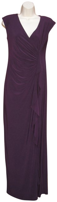 Item - Purple Jersey Black Label Long Cocktail Dress Size 2 (XS)