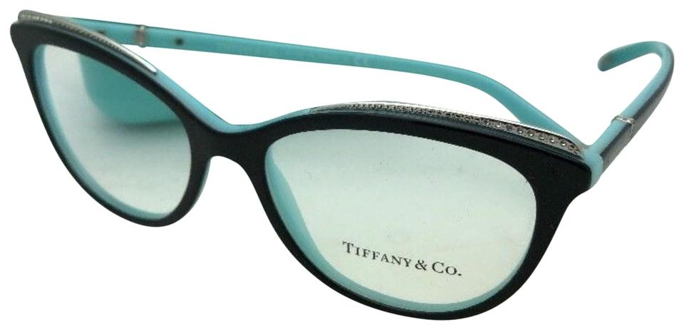 d9640fa5d0a8 Tiffany   Co. Tf 2147-b 8055 52-16 140 Black On Blue W  Crystals ...