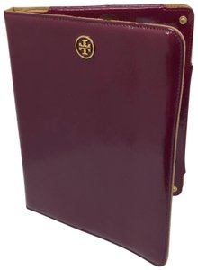 66ab6219eab1 Tory Burch Ipad Cover Wine Patent Leather Laptop Bag
