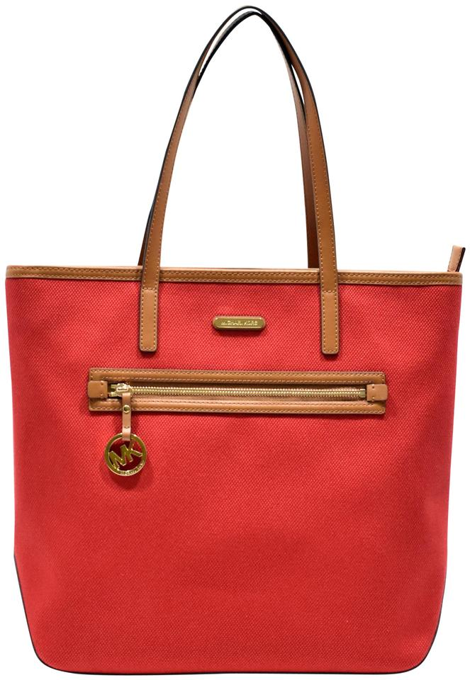 1c3e504f27198f Michael Kors Red Canvas Tote | Stanford Center for Opportunity ...