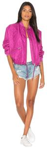 Free People Longsleeve Quilted Bomber Lined pink Jacket