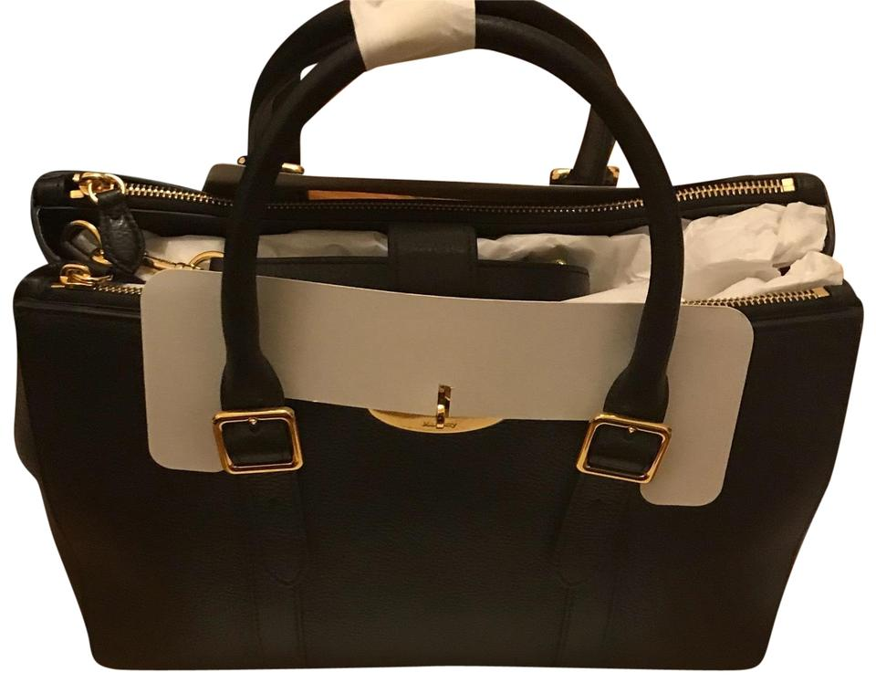 5ed47ae7a113 Mulberry Bayswater Double Zip Tote Black Leather Cross Body Bag ...