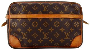 Louis Vuitton Compiegne 28 Monogram Canvas Leather Makeup Travel Dopp Bag