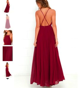Lulu*s Wine Mythical Kind Of Love Red Maxi Modern Dress Size 4 (S)