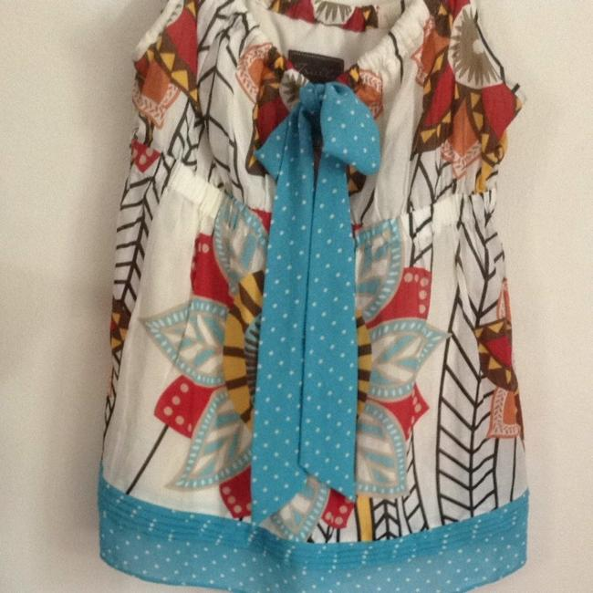 Truly Madly Deeply Top Turquoise Cream Multi