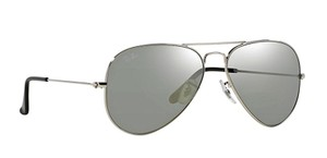 "Ray-Ban RB 3025 ""FREE 3 DAY SHIPPING"" Silver Aviator w/ Silver Mirror Lens"