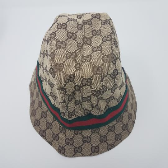 gucci beige brown green red gg canvas bucket m hat tradesy. Black Bedroom Furniture Sets. Home Design Ideas