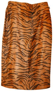 Moschino Animal Print Pencil Leopard Leopard Soft Skirt Brown