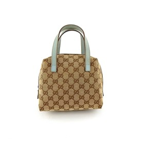 Gucci Monogram Italy Gg Blue Tote in Brown