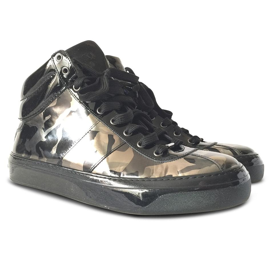 951748b76ce09 Jimmy Choo Casual Leather Print Contrast Chic Black Athletic Image 0 ...