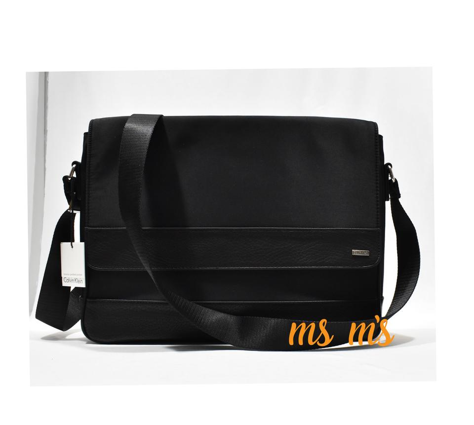 4984a84cfccd Calvin Klein Messenger Mens Black Nylon Leather Cotton Cross Body Bag -  Tradesy