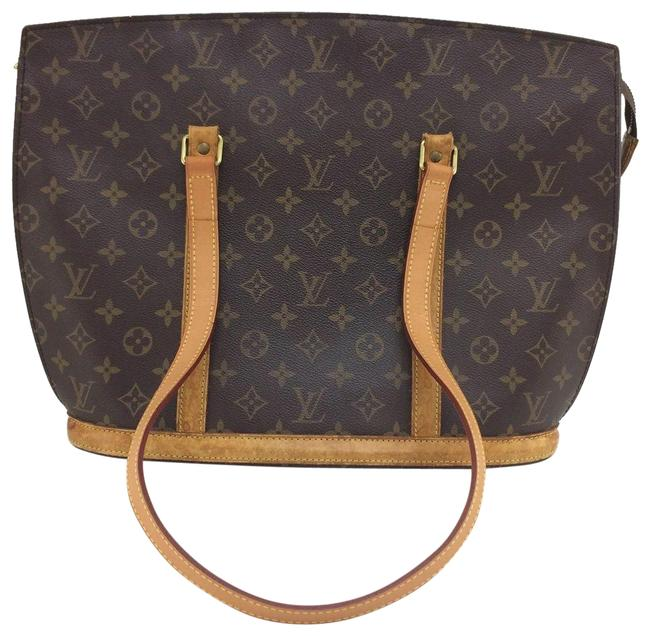 Louis Vuitton Babylone Monogram Zip Tote 865612 Brown Leather Shoulder Bag Louis Vuitton Babylone Monogram Zip Tote 865612 Brown Leather Shoulder Bag Image 1