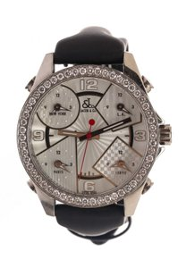 Van Cleef & Arpels Jacob & Co Five Stainless Steel and Diamond Bezel Men's Watch 476255