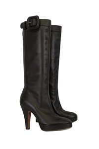 Moschino Platform Brown Boots
