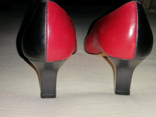 Talbots Red and Black Pumps