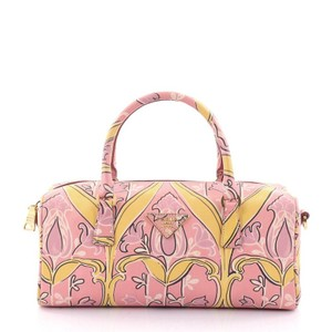 Prada Leather Satchel in pink and yellow