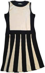 St. John short dress Black and Cream on Tradesy