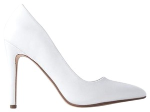 J. Adams Women Stylish Block Heel Stiletto Heel White Jing PU Pumps
