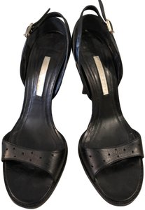 Narciso Rodriguez Perforated Black Sandals