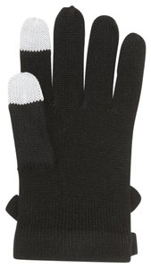Kate Spade KATE SPADE CONTRAST BOW GLOVES GLOVE MITTEN BLACK TECH FREINDLY TEXTIN