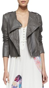 Twelfth St. by Cynthia Vincent Moto Embossed Asymmetric Leather Jacket