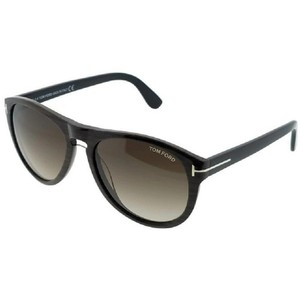 Tom Ford FT0347-05K Kurt Men's Black Frame Brown Lens 56mm Genuine Sunglasses
