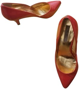 Ted Baker Patent Leather Party Casual Summer Spring Blood Orange Pumps