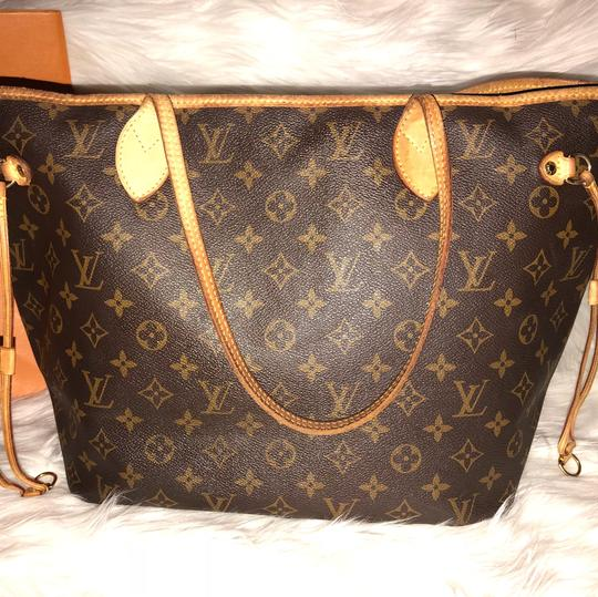 louis vuitton beige interior calfskin leather canvas neverfull tote tradesy. Black Bedroom Furniture Sets. Home Design Ideas