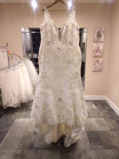 Item - Ivory / Champagne / Rose Lace 728 Traditional Wedding Dress Size 20 (Plus 1x)