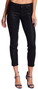 Level 99 Coated Relaxed Crop Skinny Jeans-Coated