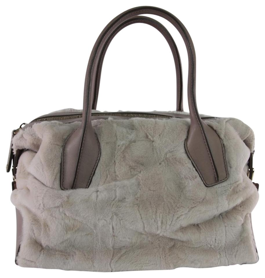 36e9c861fc Tod's D Styling Bowler Taupe Fur Leather Satchel - Tradesy