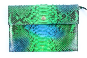 Dior Hermes Clutch Crocodile Herms Python Chanel Python Hermes Crocodile Wristlet in Green