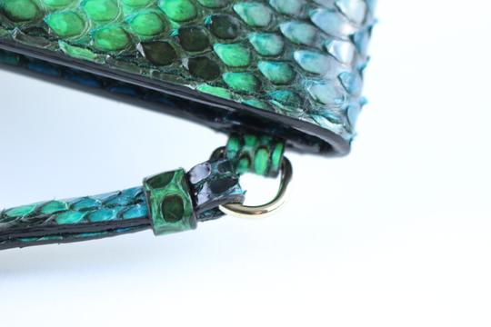 Dior Hermes Clutch Crocodile Herms Python Chanel Python Hermes Crocodile Wristlet in Green Image 7