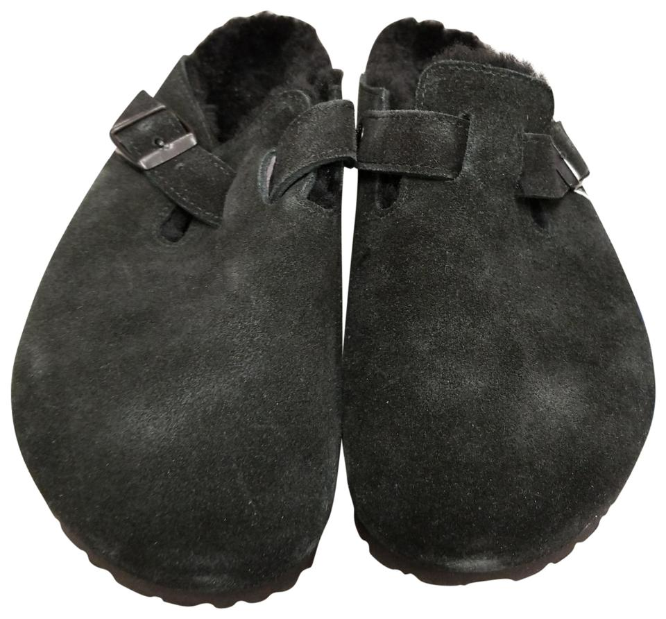 Birkenstock Black 5988 5988 Black Boston Fur Mules/Slides d2511b