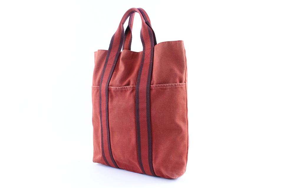 84191f726d1250 Hermès Fourre Tout [1st Dibs] Cabas 224104 Red Canvas Tote - Tradesy