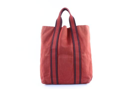 Preload https://img-static.tradesy.com/item/22590793/hermes-fourre-tout-cabas-224104-red-canvas-tote-0-0-540-540.jpg