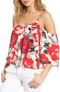 cupcakes and cashmere Floral Off-shoulder Top Pink, Red, White, Black, Orange, Blue, Green, Gray