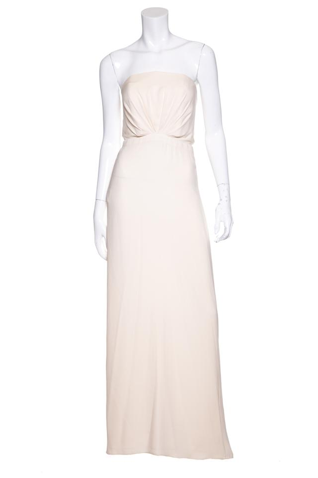 Gucci Cream Strapless Silk Gown Long Formal Dress Size 4 S Tradesy