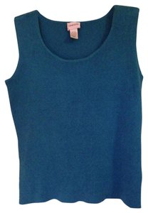 Chico's Designer Spandex Sleeveless Washable Versatile Top teal