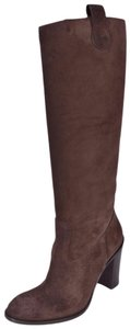 Gucci Knee High Suede Brown Boots