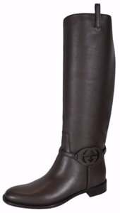Gucci Knee High Riding Brown Boots