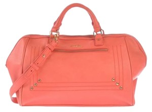 Paul & Joe Leather Handbag Kate Spade Coach Tote in Coral