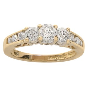 Avital & Co Jewelry Yellow Gold 0.85 Carat Round Cut Diamond 14k Engagement Ring