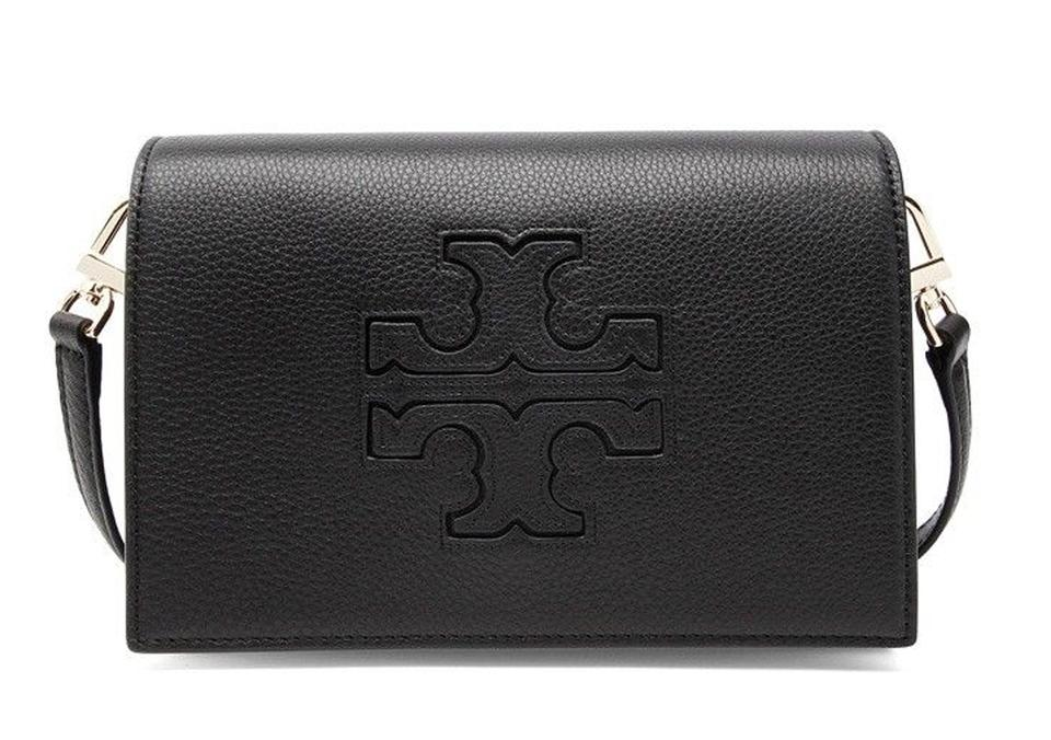 260bedabb3e Tory Burch Harper Combo Black Pebbled Leather Cross Body Bag - Tradesy