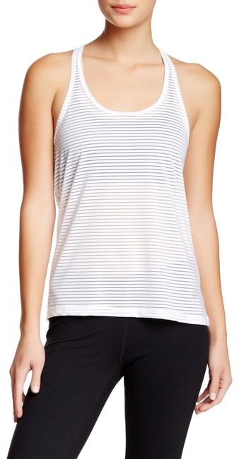 Item - White Beverly The Mesh Activewear Top Size 8 (M)