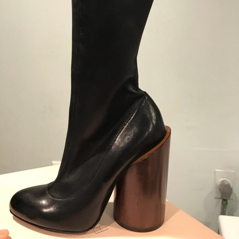 Givenchy Wooden Heel Boots Booties Size US 5.5 Regular (M fe9799d10