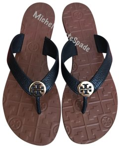 b58d09aaba322e Tory Burch Black Thora Thong Leather Sandals Size US 8 Regular (M